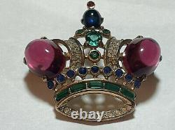 1940s CROWN TRIFARI SIGNED STERLING BROOCH PIN #187542 ALFRED PHILIPPE