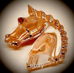 1944 Sterling Trifari Alfred Philippejelly-belly Horsebrooch Fur-clip