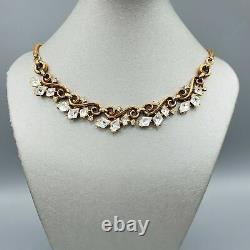 1951 Crown Trifari Alfred Philippe Diamond Shape Trifanium Link Necklace 16