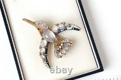 Alfred Philippe 1950s Crown Trifari Moghul Jewels Jelly Belly Bird brooch