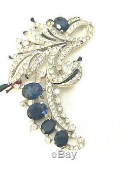 Alfred Philippe Crown Trifari Empress Eugene Rhinestone Inset Fur Pin Brooch