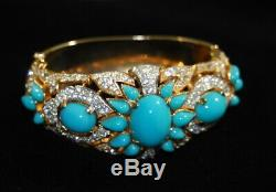 Alfred Philippe TRIFARI JEWELS OF INDIA FauxTurquoise Cabochon & Pearl Bracelet