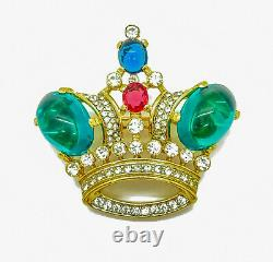 CROWN TRIFARI Alfred Philippe Jewels of India Gold Plated Crown Brooch