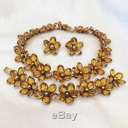 Crown TRIFARI'Alfred Philippe' Poured Glass Necklace Bracelet Earrings Set