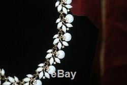 Crown TRIFARI Alfred Philippe White Milk Glass Fruit Salad Necklace 1950 Signed