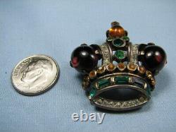 Crown Trifari 1940's Alfred Philippe Sterling Regal or King Crown Brooch