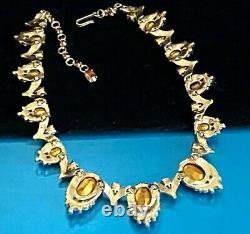 Crown Trifari Alfred Philippe Faux Topaz Grey Pearl'jewels Of India' Necklace