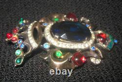 Crown Trifari Alfred Philippe Sterling Silver Brooch Pin Vintage Rare