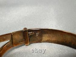 Crown Trifari Alfred Philippe Thistle Clamper Bracelet 1940S OLD HOLLYWOOD GLAM
