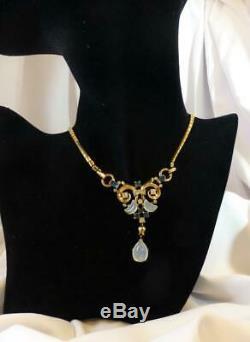 Crown Trifari Claire de Lune Moonstone & Rhinestone Necklace-Alfred Philippe