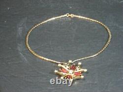 Crown Trifari Maltese Cross Pendant Necklace Alfred Philippe PatPend Trifarium