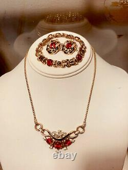 Crown Trifari Moghul Necklace Jewels Of India Gold Over Sterling Alfred Philippe
