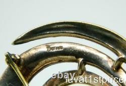 Crown Trifari Sterling vintage Alfred Philippe Vermeil Rhinestone Brooch Pin