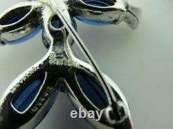 Designer Alfred Philippe Crown Trifari Tom-Tom Brooches 1949 Design 153552 Blue