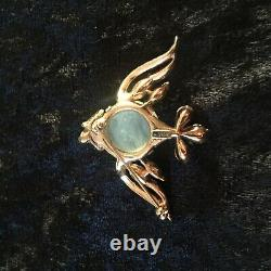 Fabulous Vintage TRIFARI JELLY BELLY BROOCH Fish Pin Alfred Philippe Pat Pend