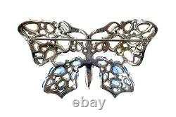 Important Trifari Alfred Philippe Carved Fruit Salad Butterfly Pin-Rare Design