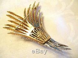 LARGEST & MOST RARE Vintage FIREWORK Rhinestone PIN by ALFRED PHILIPPE + TRIFARI