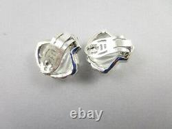 Lovely Trifari Alfred Philippe Moonshell Jelly Belly Shell Clip Earrings 1949