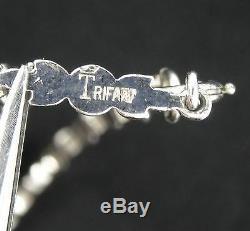 RARE 30's CROWN TRIFARI ALFRED PHILIPPE KRUSSMAN ART DECO NECKLACE EARRINGS SET
