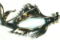 RARE Alfred Philippe Crown Trifari Sterling Silver Gold Wash Figural Fish Brooch