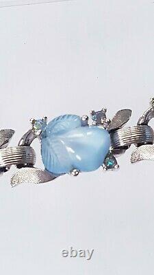 RARE Alfred Philippe TRIFARI Fruit Salad Moonstone RHINESTONE VINTAGE Bracelet