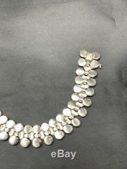 RARE Art Deco Alfred Philippe Crown Trifari Blue Moonstone Beads Bracelet