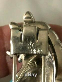 RARE Crown Trifari Alfred Philippe 1942 Dancing Bear Enameled Fur Pin Brooch