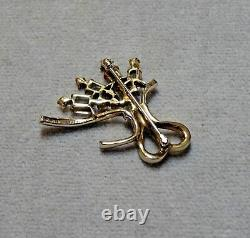RARE VTG 48 Alfred Philippe Crown Trifari Vermeil Crystal Bouquet PinPat 151388