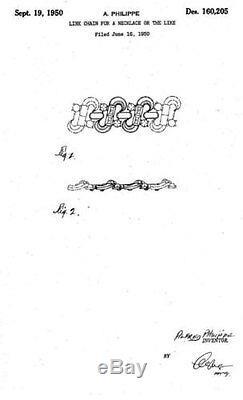 Rare 1950 Trifari Baguette Rhinestone Alfred Philippe Pat Pend Collar Necklace