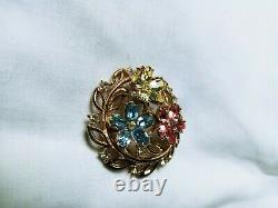 Rare vintage trifari alfred philippe brooch pin penddant