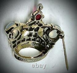 Sterlincrown Trifarialfred Philippeluna Moonstoneking Crown Pin/brooch