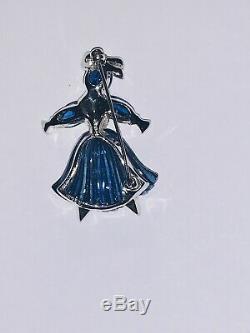 TRIFARI 1949 Alfred Philippe Blue Moghul Cabochons Rag Doll Pom Pom Brooch