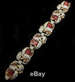 TRIFARI Alfred Philippe Cabochon, Diamante and Enamel'Empress Eugenie' Bracelet