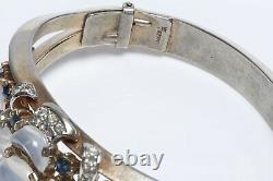 TRIFARI Alfred Philippe Clair De Lune Jelly Belly Blue Crystal Bangle Bracelet
