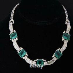 TRIFARI Alfred Philippe Emerald & Baguette Arches Necklace Bracelet Earrings