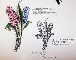 TRIFARI'Alfred Philippe' Enamel and Pave Giant Double Hyacinth Clip/Pin