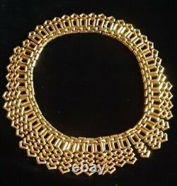 TRIFARI Alfred Philippe PAT PEND Egyptian Style Gold Necklace Bracelet Earrings