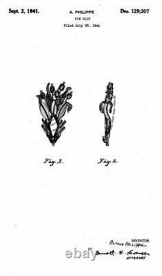 TRIFARI'Alfred Philippe' Topaz, Citrine and Pave 1941'Lotus' Clip/Pin