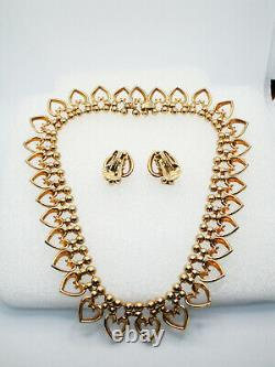 TRIFARI Queen of Hearts Necklace & Earrings, Alfred Philippe, Pre-1949, X646
