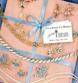 Trifari Alfred Philippe Blue Ballet Dancers Scatter Pins 1953 Book Piece