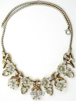Trifari Alfred Philippe Dewdrop' Moonstone Fruit Salads & Flowers Necklace