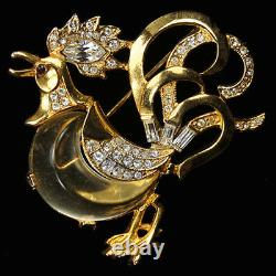 Trifari'Alfred Philippe''Fairyland' Jelly Belly Rooster Pin