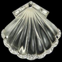 Trifari'Alfred Philippe' Jelly Belly'Moonshell' Seashell Pin Clip
