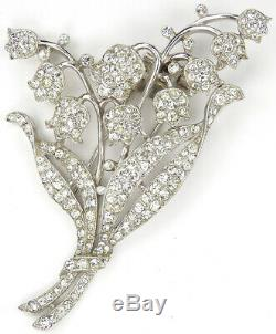 Trifari'Alfred Philippe' Pave Lily of the Valley Pin Clip