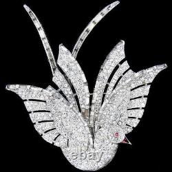 Trifari'Alfred Philippe' Pave and Baguettes'Big Bird' of Paradise Pin
