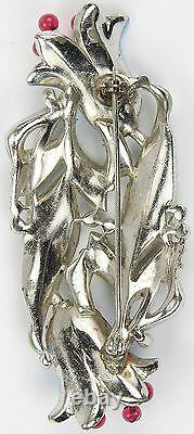 Trifari'Alfred Philippe' Pave and Enamel Large Double Bluebell Pin