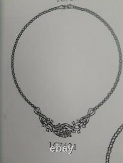 Trifari Alfred Philippe Twinkle Star Necklace 167421 Rhinestones 14