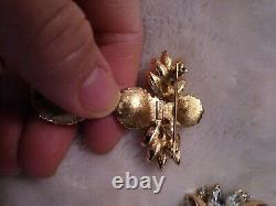 Trifari Jewelry Lot 1940's-1980's Crown TM © Alfred Philippe Sterling #137542