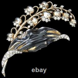 Trifari Sterling'Alfred Philippe' Jelly Belly Lily of the Valley Pin