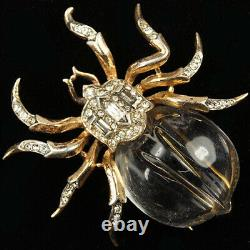 Trifari Sterling'Alfred Philippe' Jelly Belly Spider Pin Clip